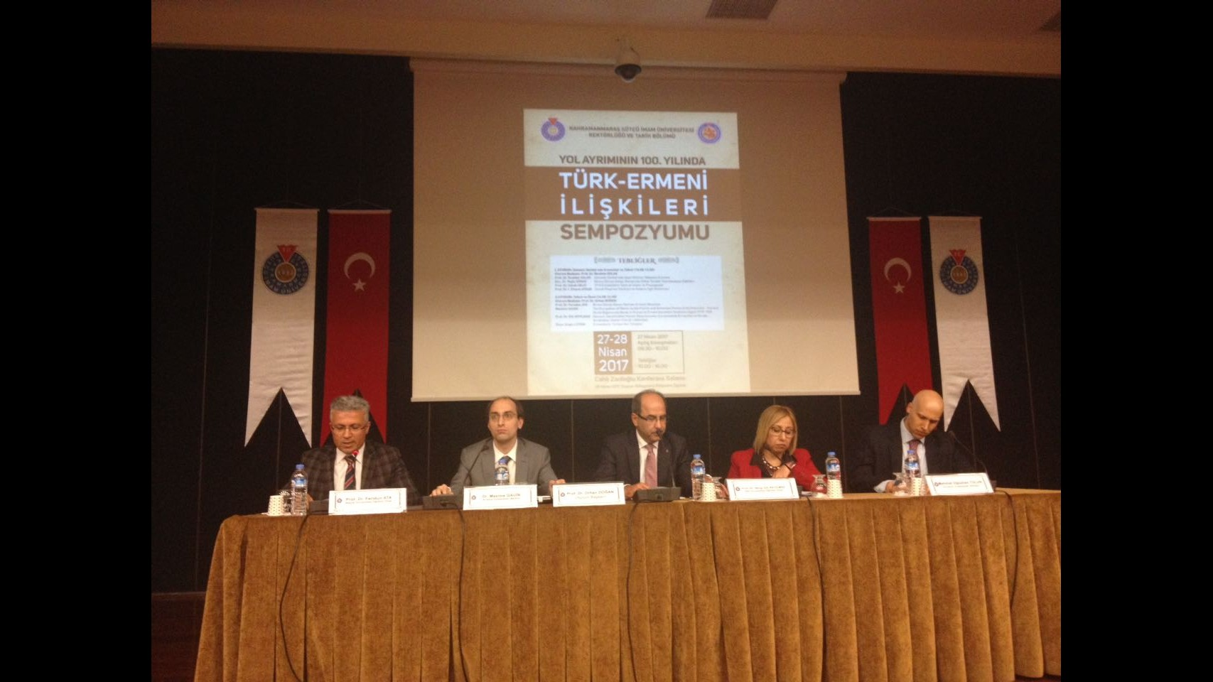 "A SYMPOSIUM TITLED ""TURKISH-ARMENIAN RELATIONS AT THE 100. YEAR OF THE JUNCTION"" WAS ORGANIZED IN KAHRAMANMARAŞ SÜTÇÜ İMAM UNIVERSITY"