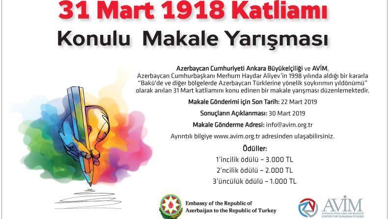 """DUYURU: """"31 MART 1918 KATLİAMI"""" KONULU MAKALE YARIŞMASI SONUÇLARI"""