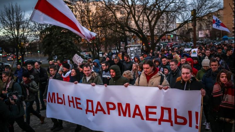 "COMMENTARY: PROTESTS AGAINST THE ""SOCIAL PARASITE TAX"" IN BELARUS"